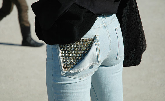 Studded Pocket Jeans