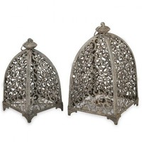 2 Piece Iron Lantern Set - P Interiors