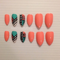 Aztec Press On Nails