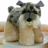 Stein the Stuffed Schnauzer Dog by Aurora At Stuffed Safari