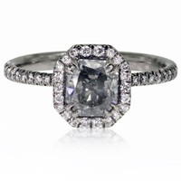 David Alan 18KPd & Gray Diamond Stakkr Ring sz 6 - Jewelry | Portero Luxury