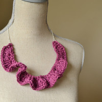Purple Ruffle Necklace