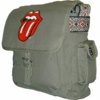 ROCKWORLDEAST - Rolling Stones, Messenger Bag, Tongue Logo