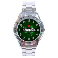 HEINEKEN Beer Logo Drink Sport Metal Watch