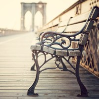 The last time I saw you  Bench on the Brooklyn by irenesuchocki