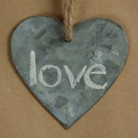 Zinc Heart Tags Use With Chalk