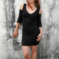 Christmas in July Sale- SUMMER SALE- 20% off- Open shoulders mini dress