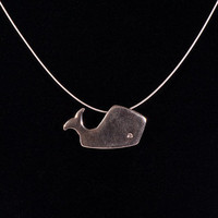 Whale Charm Pendant Necklace :: Mark Poulin Jewelry
