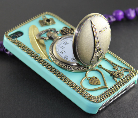 Eiffel Tower Pocket Watch Case for iPhone 4, 4s....