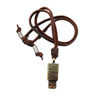 soft leather long necklace USB pendant men leather long necklace, women leather necklace   PL0341