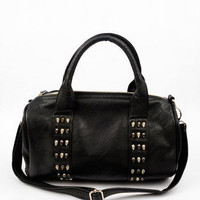 Skull and Stud Satchel Bag