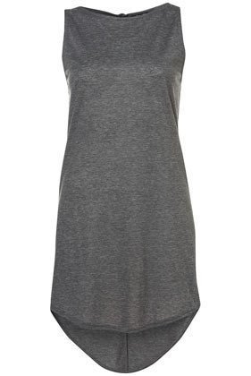 Curved Hem Tunic - Jersey Tops  - Apparel