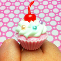 Huge Cherry Cupcake Ring