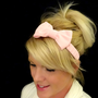 Light pink feminine bow headband for adult/child