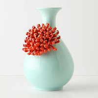 Curvy Chrysanthemum Vase by Anthropologie Mint One Size Room Decor