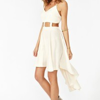 Caged Tail Dress - Cream