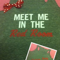 Fifty Shades of Grey Inspired Meet Me in the Red Room Racerback Tank