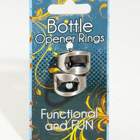 Bottle Opener Rings | One Size Fits All Ring Set | fredflare.com