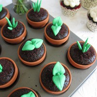 Sweet Sprout Cupcake Toppers 12Sprouts&amp;12Pots by mimicafeunion