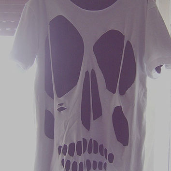 Skull cut out t-shirt