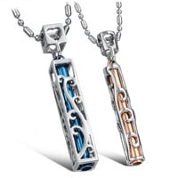 Gullei Trustmart : Hollow modern style matching beautiful couple necklace set [GTMCN019] - $18.00 - Couple Gifts, Cool USB Drives, Stylish iPad/iPod/iPhone Cases & Home Decor Ideas