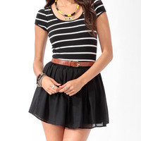 Fitted Striped Tee