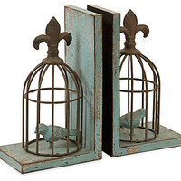 One Kings Lane - It's in the Details - S/2 Birdcage Bookends