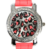 Bright Leopard Rubber Watch | Shop Accessories at Wet Seal