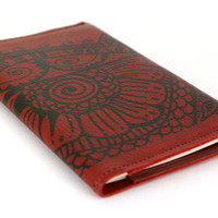 Henna Moleskine Cover - Leather in Red