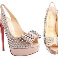 Christian Louboutin Clou Noeud Spikes slingbacks [cl406020217252] - $123.68 : Christian Louboutin, Best Bags