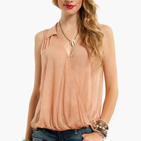 Wrap Sheet Sleeveless Top