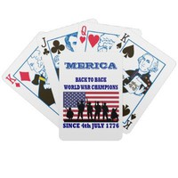 Merica,Back to back world champions Playing Cards from Zazzle.com