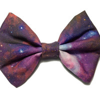 Backordered-Galaxy Printed Hair Bow (S,M, or L)  (version 3)