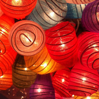 20 x Japaneses Cocoon shape handmade lantern string light patio outdoor decoration deco room bedroom wedding patio party Beach balcony