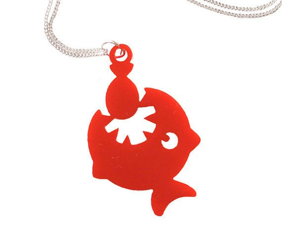 Piranha Acrylic necklace - Red