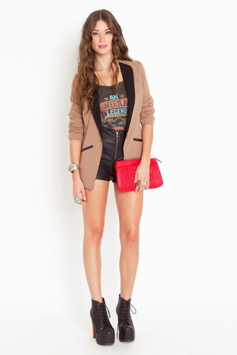 Lush NASTYGAL Trimmed Tux Blazer jacket coat  VINTAGE STYLE celebrity fashion outer