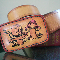 Vintage Womans Belt Tan Leather Boho Hippie Fashion Leegin