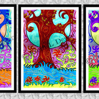 The Tree of Life - A3 Hand drawn Set of Three