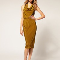 ASOS | ASOS Open Back Drape Dress at ASOS