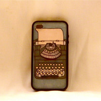 What's Your Type, iPhone case, iPhone cover, iPhone 4/4s, hipster, vintage, typewriter, men, changeable, cool
