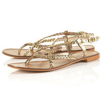 HARLEY Plaited Gold Sandals - Back In Stock  - New In
