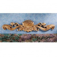 Design Toscano De Velde Water Lily Architectural Wall Pediment in Antique Gold - EU34876