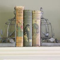 Set of 2 Birdcage Book Ends - Melody Maison