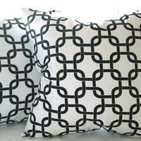 Pillow Cover Contemporary  Gotcha Twill  white/black 20x20