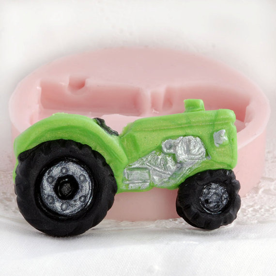 Tractor food mold - fondant, gum paste, candy, chocolate tractors are easy to create