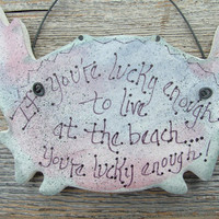 Crab Ornament Nautical Salt Dough / Beach Decor