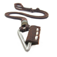 soft leather long necklace men leather long necklace, women leather necklace   PL0221