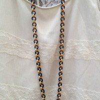 Thick Black and Gold Chain
