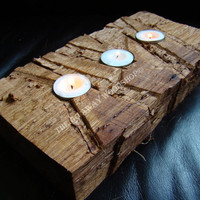 Rugged tea light holder