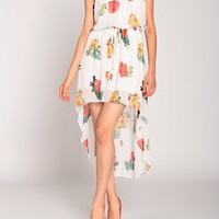 Pretty in Flowers Hi Lo Dress